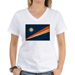 Marshall Islands Flag Women's V-Neck T-Shirt
