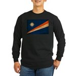 Marshall Islands Flag Long Sleeve Dark T-Shirt