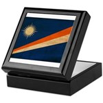 Marshall Islands Flag Keepsake Box