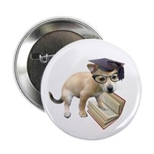 "Scholar Puppy 2.25"" Button"