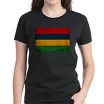 Mauritius Flag Women's Dark T-Shirt