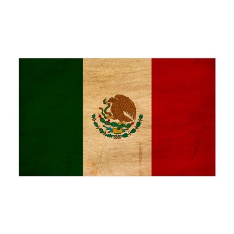 Mexico Flag 38.5 x 24.5 Wall Peel