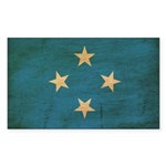 Micronesia Flag Sticker (Rectangle 10 pk)