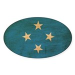 Micronesia Flag Sticker (Oval 50 pk)