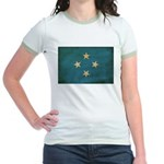 Micronesia Flag Jr. Ringer T-Shirt