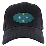 Micronesia Flag Black Cap