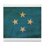 Micronesia Flag Tile Coaster