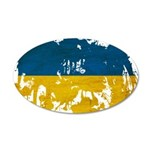 Ukraine Flag 38.5 x 24.5 Oval Wall Peel