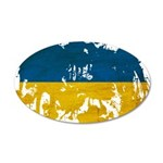 Ukraine Flag 22x14 Oval Wall Peel