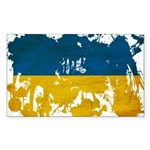 Ukraine Flag Sticker (Rectangle 10 pk)