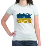 Ukraine Flag Jr. Ringer T-Shirt