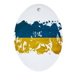 Ukraine Flag Ornament (Oval)