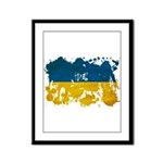 Ukraine Flag Framed Panel Print