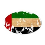 United Arab Emirates Flag 22x14 Oval Wall Peel