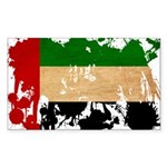 United Arab Emirates Flag Sticker (Rectangle 10 pk