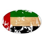 United Arab Emirates Flag Sticker (Oval 10 pk)