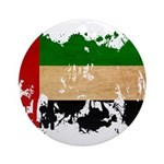 United Arab Emirates Flag Ornament (Round)