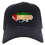 United Arab Emirates Flag Black Cap
