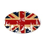 United Kingdom Flag 38.5 x 24.5 Oval Wall Peel