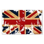 United Kingdom Flag Sticker (Rectangle 50 pk)