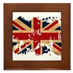 United Kingdom Flag Framed Tile