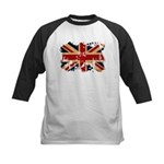 United Kingdom Flag Kids Baseball Jersey