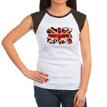 United Kingdom Flag Women's Cap Sleeve T-Shirt