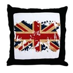 United Kingdom Flag Throw Pillow