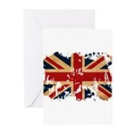 United Kingdom Flag Greeting Cards (Pk of 10)
