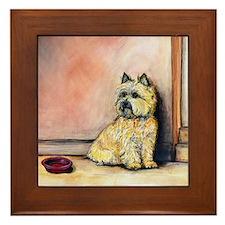 """Cairn Terrier """"Waiting"""" Framed Tile"""