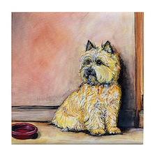 "Cairn Terrier ""Waiting"" Tile Coaster"