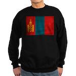 Mongolia Flag Sweatshirt (dark)