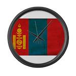 Mongolia Flag Large Wall Clock