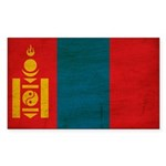 Mongolia Flag Sticker (Rectangle 50 pk)