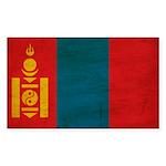 Mongolia Flag Sticker (Rectangle 10 pk)