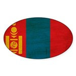 Mongolia Flag Sticker (Oval 10 pk)