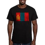 Mongolia Flag Men's Fitted T-Shirt (dark)