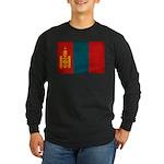 Mongolia Flag Long Sleeve Dark T-Shirt