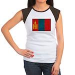 Mongolia Flag Women's Cap Sleeve T-Shirt