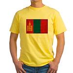 Mongolia Flag Yellow T-Shirt