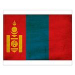 Mongolia Flag Small Poster