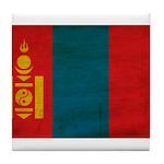 Mongolia Flag Tile Coaster