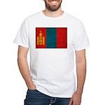 Mongolia Flag White T-Shirt
