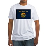 Montana Flag Fitted T-Shirt