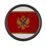 Montenegro Flag Large Wall Clock