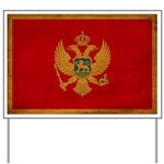 Montenegro Flag Yard Sign