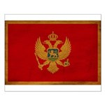 Montenegro Flag Small Poster