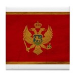Montenegro Flag Tile Coaster
