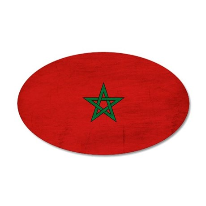 Morocco Flag 22x14 Oval Wall Peel