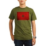 Morocco Flag Organic Men's T-Shirt (dark)